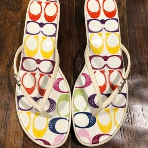 Coach Multicolor Signature C Sandals